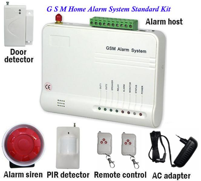 Security systems 16 wireless amp 3 wired zone gsm alarm system kit