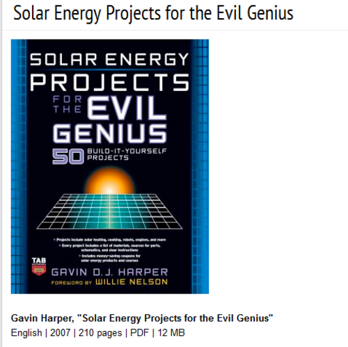 Crafts hobbies solar energy projects for the evil for Solar energy projects for kids
