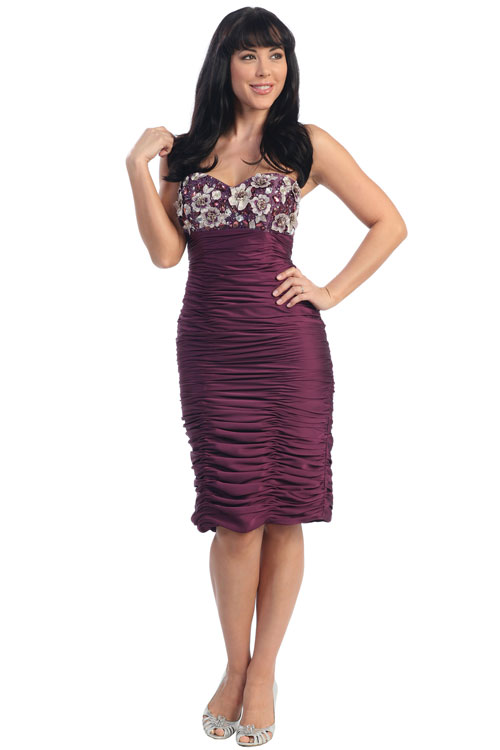 Formal Dresses - Gorgeous Short Evening Dress. In Stock In Navy (XL) Eggplant (M). FREE ...