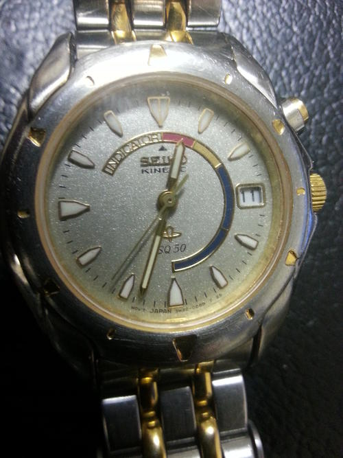 s watches seiko kinetic sq50 was