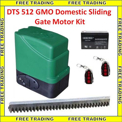 Security systems dts 512 gmo domestic sliding gate motor for Sliding gate motor price