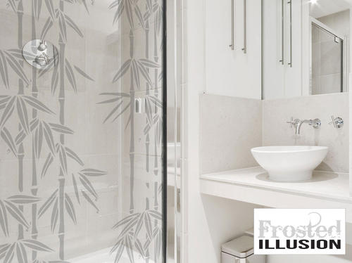 Wall Decals Frosted Illusion Bamboo Sandblasted Glass
