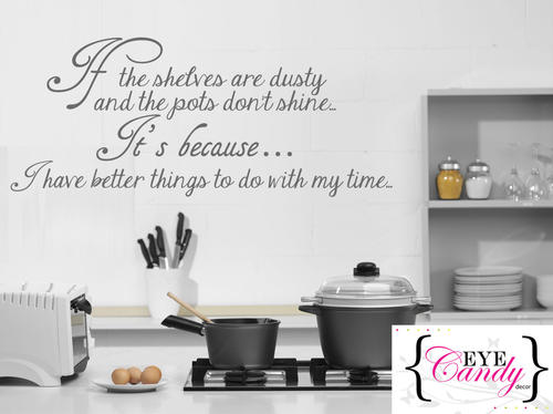 Wall decals funny kitchen quote vinyl wall art quote - Funny kitchen wall decals ...