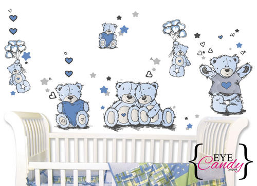 wall decor tatty teddy boys baby kids wall stickers amazon com funtosee tatty teddy wall decals tea party