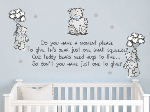 Wall Decals Tatty Teddy Cute Wall Quote Vinyl Decal