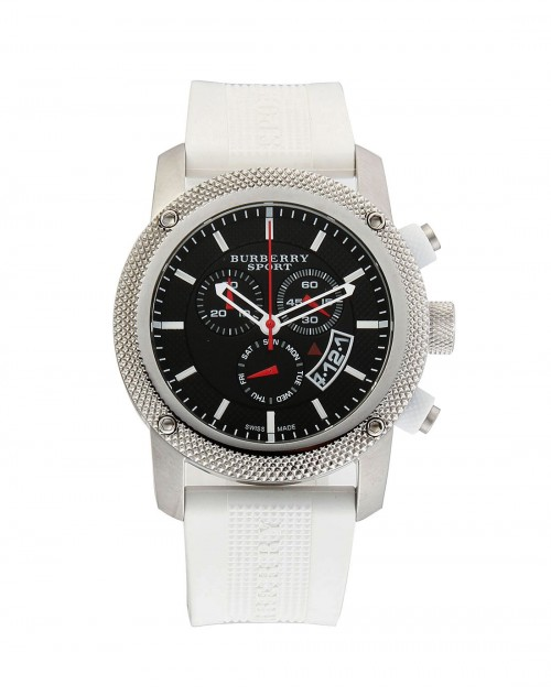 s watches burberry s bu7707 sport white rubber