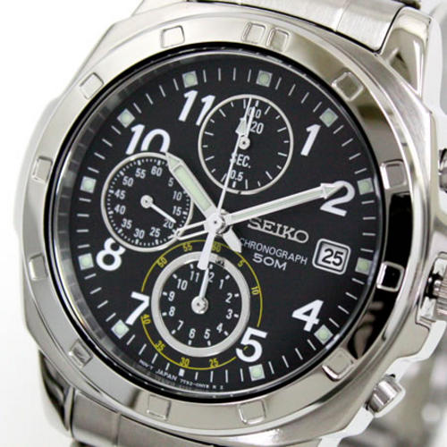 Men 39 s watches clearance sale seiko mens speed chrono flight pilot oyster 50m for Watches clearance