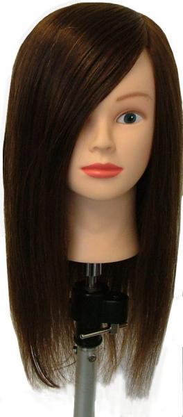 Manikin Head With Long Human Hair 93