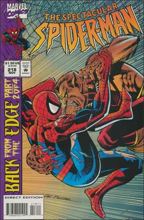 Comic Books Spectacular Spider man #218 was listed for R37.00 on 24 ...