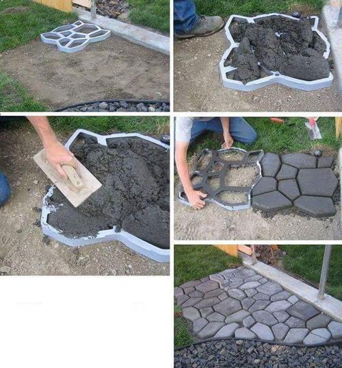 Other garden decor diy paving mould mold stencil for for Landscaping rocks for sale in pretoria