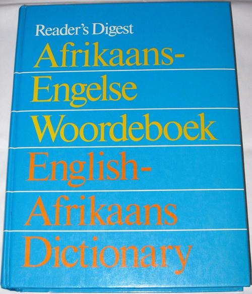 Afrikaans–English dictionary: Translation of the word