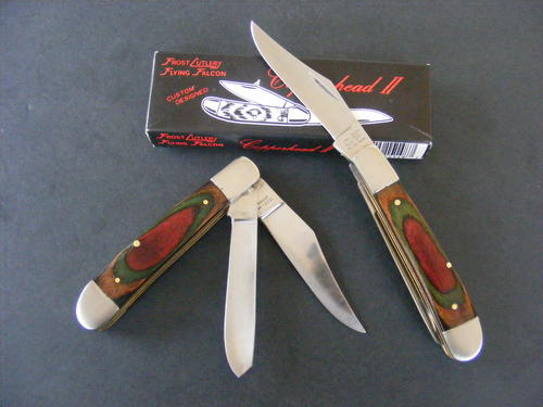 Pocket Knives - FLYING FALCON DOUBLE BLADED FOLDING KNIFE ...