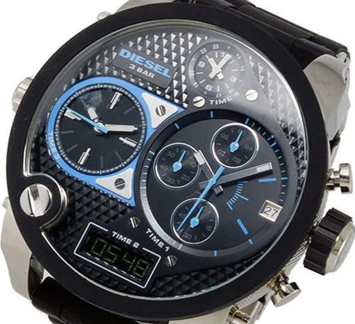DIESEL Mr. Daddy Leather Strap Watch, 58mm Nordstrom