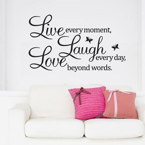 wall decals live laugh love decal wall sticker decor was sold for on 12 mar at 23 46 by. Black Bedroom Furniture Sets. Home Design Ideas