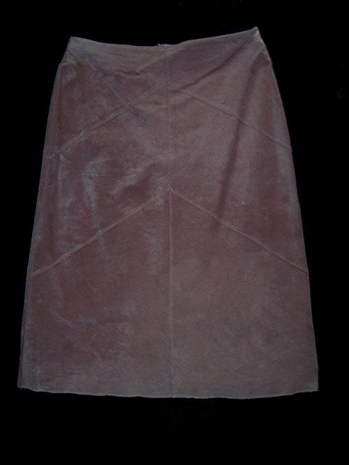 vintage clothing leather skirt by queenspark dusty pink