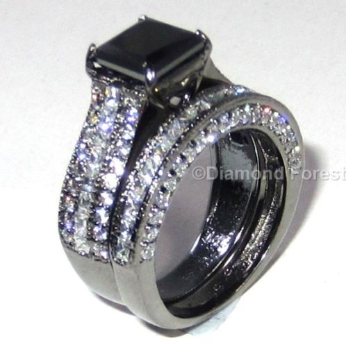 wedding rings 3 56 ct black moissanite engagement ring
