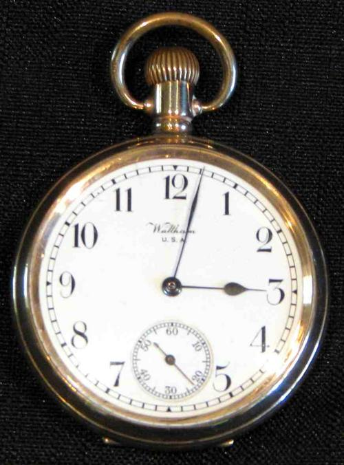 Pocket Watches American Waltham Usa Pocket Watch Antique 1919 9ct Gold Serial