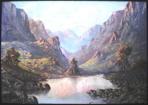 oils original oil painting 39 mountain landscape 39 by well