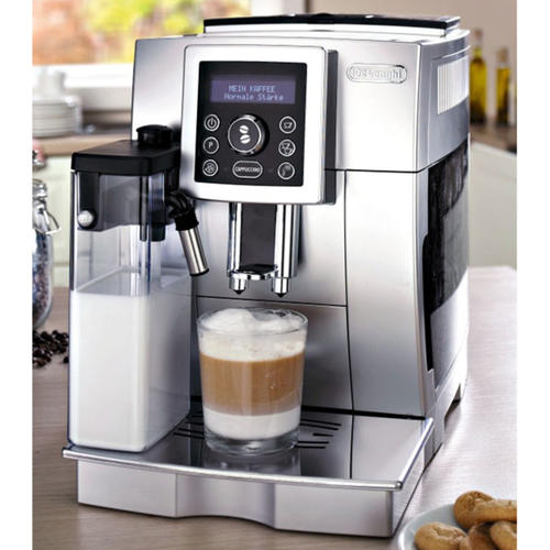 tea coffee makers delonghi silver fully automatic. Black Bedroom Furniture Sets. Home Design Ideas