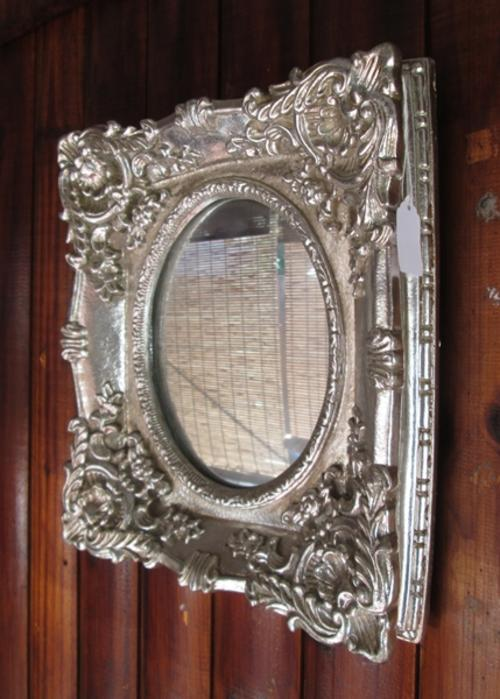 Frames mirrors ornate silver framed mirror for sale in for Silver framed mirrors on sale