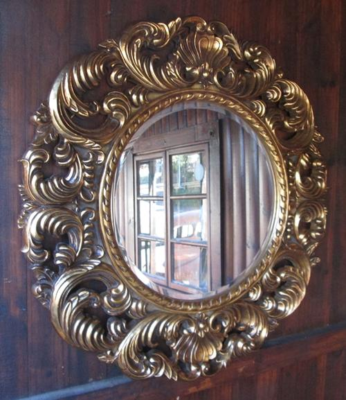 Large round gold framed mirror for Large round gold mirror