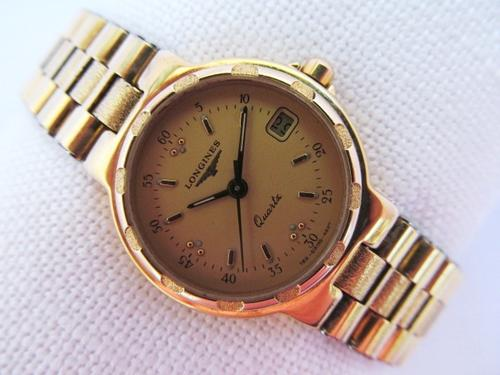 womens watches longines conquest date gold plated